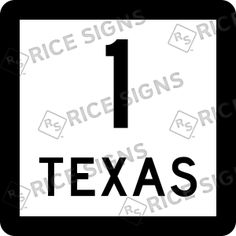 On the road again!! This time TEXAS Route 1.  Custom Route Sign Simulator for All 50 States.