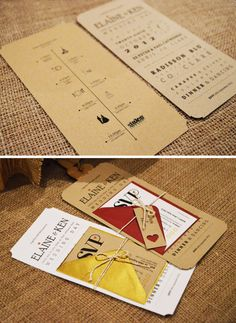 10 x Wedding Invitation / Rustic Wedding Invitation por adrimdesign