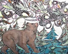 Bear's Dream - Archival Giclee Limited Edition - Dawn Patel Art