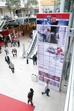 kompas im Einsatz: Videowall der Messe Düsseldorf