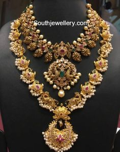 Antique Nakshi Mango Necklace photo
