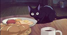 hayao miyazaki animated GIF Jiji - Food Delivery Service - Ideas of Food Delivery Service - hayao miyazaki animated GIF Jiji Hayao Miyazaki, Totoro, Laurence Anyways, All Anime, Anime Art, Studio Ghibli Art, Kiki's Delivery Service, Castle In The Sky, Ghibli Movies
