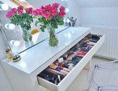 best makeup vanity - Ikea Malm dressing table