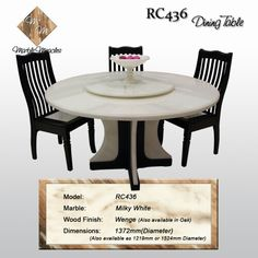Round marble dining table dining set timber and marble chairs to