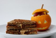 Grilled Pumpkin Nut Butter Sandwiches