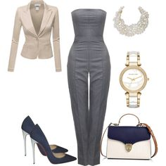 Business Casual by allonasada on Polyvore featuring Doublju, Alexander McQueen, Christian Louboutin, Aspinal of London, Michael Kors and Humble Chic