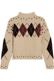 Isabel MarantGlens argyle intarsia wool and alpaca-blend sweater