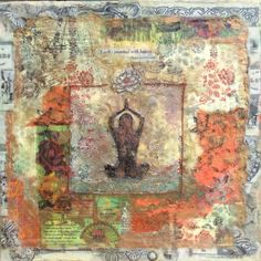 "12x12"" Encaustic mixed media on board by Laura Jacob"