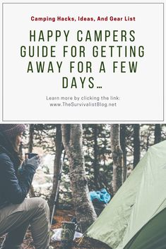 Camping hacks and ideas to make your camping trip easier and more enjoyable when you're out in the woods. If you love to camp, hunt, or just be out in nature then look at this list of camping hacks and tips! #camping #diy #hacks #backpacking