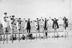the 1950s-1950 Landais shepherds on their stilts by april-mo, via Flickr