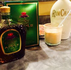 Omg I gotta remember this! I give you: the Cinnamon Applejacks Cocktail! Tastes exactly like the milk & cereal combo Cinnamon Applejacks! Equal parts milk, rum chata & Crown Apple, dust rim with white chocolate cocoa, yum! Rumchata Drinks, Rumchata Recipes, Liquor Drinks, Cocktail Drinks, Alcoholic Drinks, Beverages, Christmas Drinks, Holiday Drinks, Christmas Baking