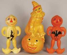 Collection of Vintage Celluloid Halloween Items - Oct 2017 Halloween Miniatures, Halloween Ii, Retro Halloween, Halloween Prints, Halloween Items, Halloween Pictures, Holidays Halloween, Happy Halloweenie, Vintage Halloween Decorations