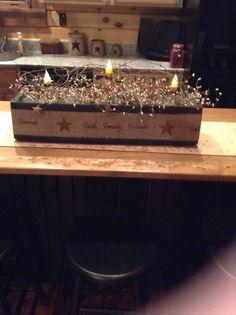 Primitive box with burlap
