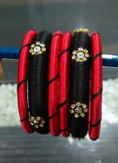 To order, pls what's app on 9704084116 Silk Thread Bangles Design, Silk Bangles, Silk Thread Earrings, Thread Jewellery, Beaded Bracelets, Thread Art, Jewelry Patterns, Handmade Jewelry, Jewelry Design