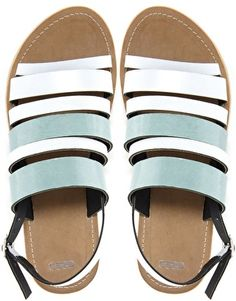 Image 2 ofASOS FABLE Leather Flat Sandals