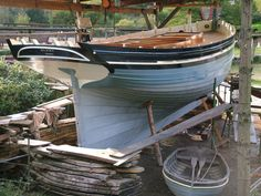 Clinker Lugger <i>Alert</i> - Stirling & Son Wooden Boat Building, Wooden Boat Plans, Wooden Boats, Classic Sailing, Classic Yachts, Old Boats, Small Boats, Sailing Dinghy, Sailing Yachts