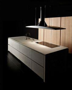 Schön Kitchen Cabinet Modern Fine Concrete Wood Fronts Cook Islands Island Hood  Raised Glass Ceramic Spook Armature