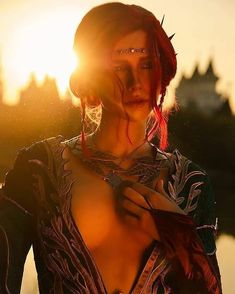 Triss Merigold from The Witcher 3 Wild Hunt cosplay by Kris Merigold Cosplay photo by Triss Merigold Cosplay, Yennefer Cosplay, Triss Merigold Witcher 3, The Witcher Wild Hunt, The Witcher Game, The Witcher Geralt, Witcher Art, Ciri, Character Inspiration