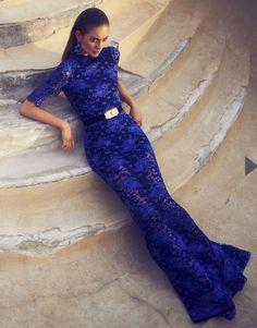 Electric blue lace
