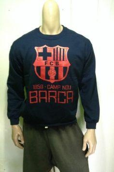 Barcelona Sweater Crewneck Sweatshirt Messi Neymar Madrid Blue | eBay