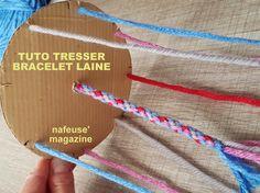 TUTO tresser un bracelet en laine Infant Activities, Crochet Lace, Cool Kids, Diy And Crafts, Creations, Couture, Wool, Style, Macrame