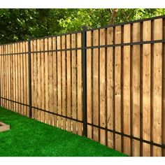 Cheap Privacy Fence, Privacy Fence Designs, Diy Fence, Backyard Fences, Fence Gate, Fence Panels, Backyard Landscaping, Cheap Fence Ideas, Wood Fence Design