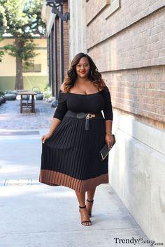 Trendy Curvy Plus Size Fashion Style Internet-Tagebuch Fashion Mode, Curvy Girl Fashion, Look Fashion, Autumn Fashion, Womens Fashion, Fashion 2018, Fashion Online, Fashion Websites, Cheap Fashion