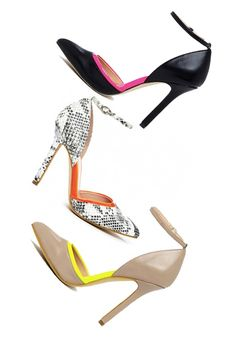 Love the pops of color in these pumps.