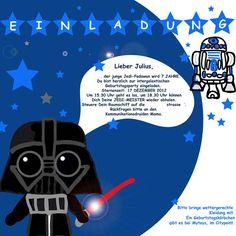 Kindergeburtstag: Einladungen Für Star Wars Party Basteln | Kindergeburtstag  | Pinterest | Star Wars Party, Basteln Und Krieg