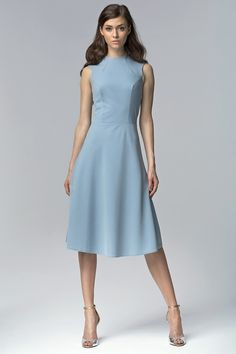 nife Ärmelloses Damenkleid Sommerkleid A-Linie Partykleid Cocktailkleid Knielang Day Dresses, Dress Outfits, Fashion Dresses, Dresses For Work, Mode Top, Royal Clothing, Frack, Maxi Robes, White Midi Dress