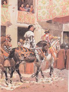 Henri de Transtamare et du Guesclin à Burgos - Rousselot