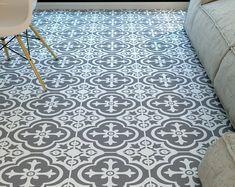 Alba Vinyl Tile Sticker Pack in Chalk Grey - Tile Decals - Floor Stickers Tile Decals, Vinyl Tiles, Wall Tiles, Vinyl Decals, Backsplash Tile, Home Stickers, Floor Stickers, Linoleum Flooring, Vinyl Flooring