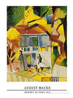 Innenhof Landhaus Bei St.Germain, 1914 Art Print