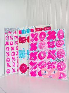 Pink Canvas Art, Cute Canvas Paintings, Diy Canvas, Decoration, Art Decor, Room Decor, Dorm Art, Fashion Wall Art, Photo Wall Collage
