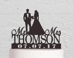 Rustic Wedding Cake Topper-Custom Wedding Cake by Customorderhouse