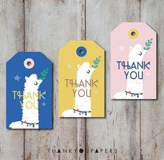 Llama Tag Alpaca Thank you tag Birthday Party Llama favor tags