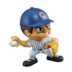 "Lil Teammates Series Chicago Cubs Pitcher Figurine (Edition 2)  - Catch the fever of the hot new toy collectible craze with these poseable 3"" vinyl team figures, available in various positions, series and uniform combinations. These little guys, dressed in the uniforms of your favorite teams, are tall and feature very animated faces and rotating heads. Collect all the positions and teams. 3 inches tall Rotating heads Officially licensed Series Collectible MLB License: Chicago CubsItem…"