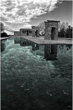 Templo de Debod. 200 BC, Southern Egyptian temple. Rebuilt in 1970-2. Madrid, Spain.