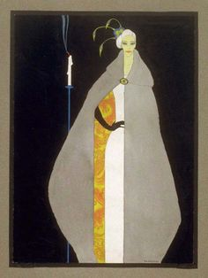 Mac Harshberger, woman in an evening dress, 1928-32. From A History of Costumes. Watercolor. USA. Via FAMSF