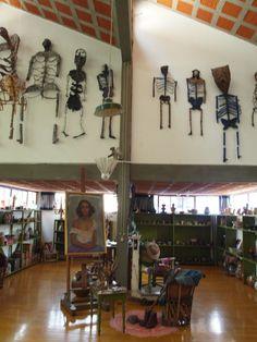 Frida Kahlo and Diego Rivera's House/Studio also designed by Juan O'Gorman.
