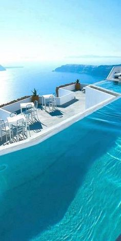 Rooftop pool in Greece