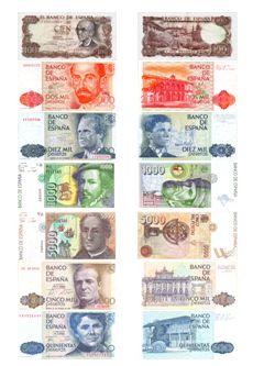 Billetes euro euro banknotes  Imprimibles  Printable