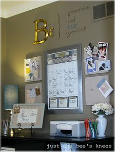 "office- love the ""Be"" at the top"