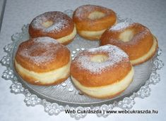 Bagel, Doughnut, Donuts, Food And Drink, Cooking Recipes, Churros, Bread, Brioche, Hungarian Recipes