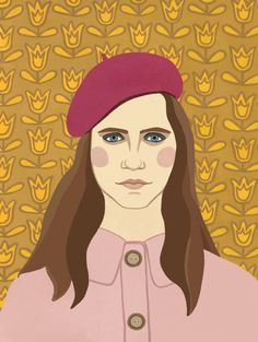 Moonrise Kingdom Girl Portrait Print by AhJennyShop on Etsy #moonrisekingdom #wesanderson