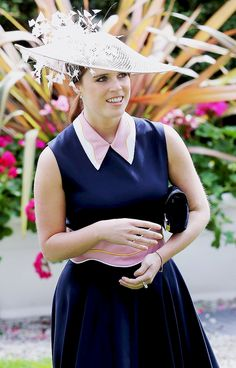 Princess Eugenie of York in a Roksanda dress on Day 3 of Royal Ascot at Ascot Racecourse on June 16, 2016.
