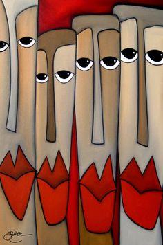 Abstract canvas print Original Modern pop Art Contemporary painting by… Abstract Face Art, Abstract Canvas, Canvas Art, Canvas Prints, Pop Art Collage, Cubist Art, Modern Pop Art, Chicago Artists, Art Moderne