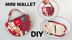 DIY CUTE MINI WALLET / Card & Coin Purse / free pattern / sewing tutorial [Tendersmile Handmade] - YouTube Sew Wallet, Card Wallet, Purse Wallet, Sewing Tutorials, Sewing Patterns, Mini, Diy Crafts Hacks, Diy Purse, Bag Organization
