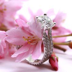 Spring is in the air.  The rain will go away eventually :) #Vancouver #ringbling #jewellery #diamond #engagement #ring #engagementring #rings #fashion #engaged #wedding #marryme #proposal #richmond #bc #vancouverdiamonds #vancity #bridetobe #diamondring #