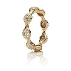 Eight Pod Pavé Diamond Ring - Pandora UK | PANDORA eSTORE